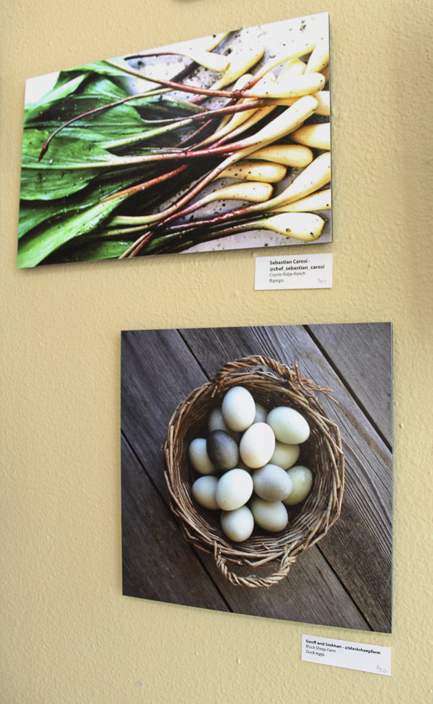An art exhibit at downtown Vancouver's Angst Gallery highlights four of Southwest Washington's 'food regions,' including the Estuary region, the Forest region, the Highlands region and the Valley region. Photo by Kelly Moyer