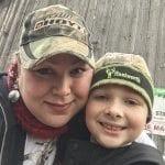 Andi Schwartz with nephew Michael Miller.