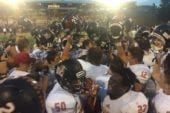 Battle Ground celebrates a 48-26 win over Mountain View