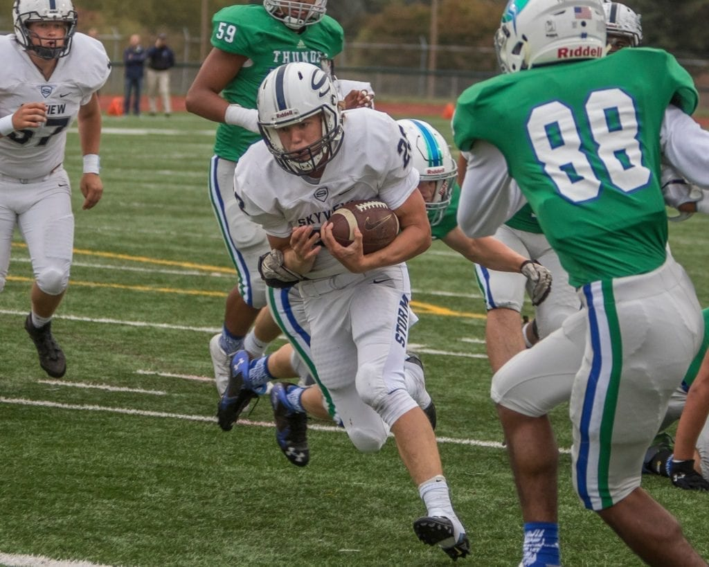 Skyview Storm rolls over Mountain View Thunder 56-31