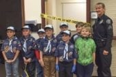 Cub Scouts encounter mock crime scene at Battle Ground Police Department