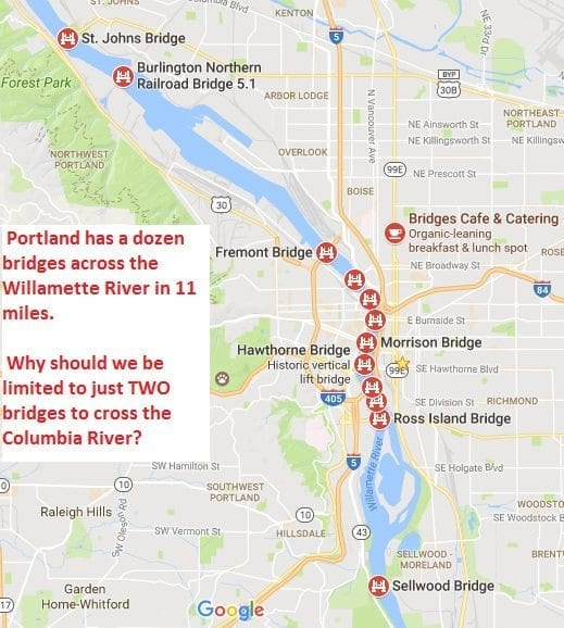 Portland Bridges Map - Helicopter and Bridge Wallpaper