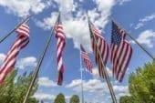 U.S. flag exchange offered by Davidson & Associates Insurance in celebration of Flag Day