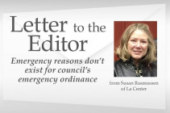 Letter to the editor: Emergency reasons don't exist for council's emergency ordinance