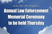 Annual Law Enforcement Ceremony to be held Thursday