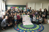 Battle Ground kindergarten class spreads warmth with quilt project