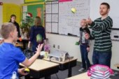 Woodland Middle School students develop life skills by learning to juggle