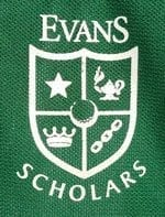The logo for the caddies at Royal Oaks Country Club. The Evans Scholarship is a program designed for caddies all across the country. Photo by Paul Valencia