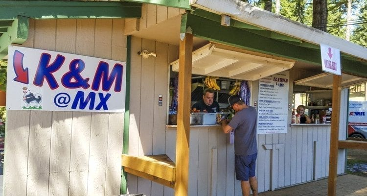 K&M Drive-In, which caters to the Camas-Washougal crowd, has a temporary facility at Washougal MX Park to take care of racing fans this weekend at the Washougal MX National. Photo by Paul Valencia