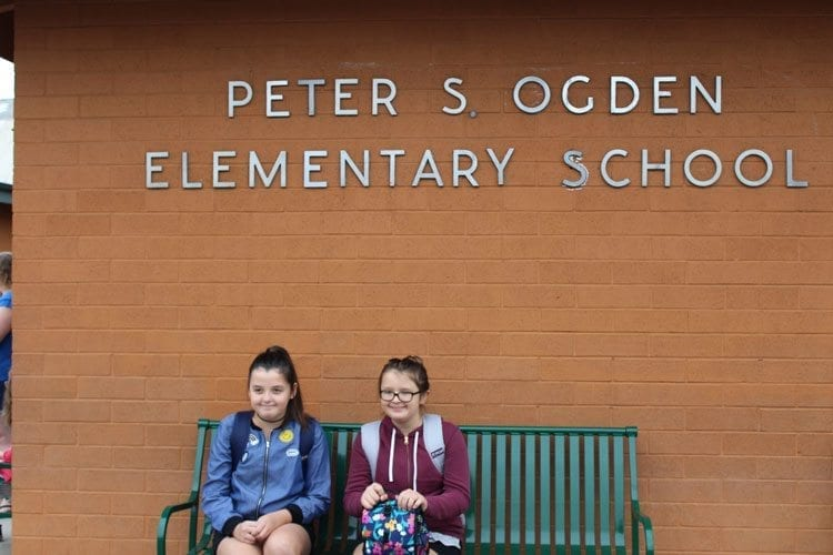 Many students were excited to begin a new year of classes at Ogden Elementary School Wednesday. Photo by Alex Peru