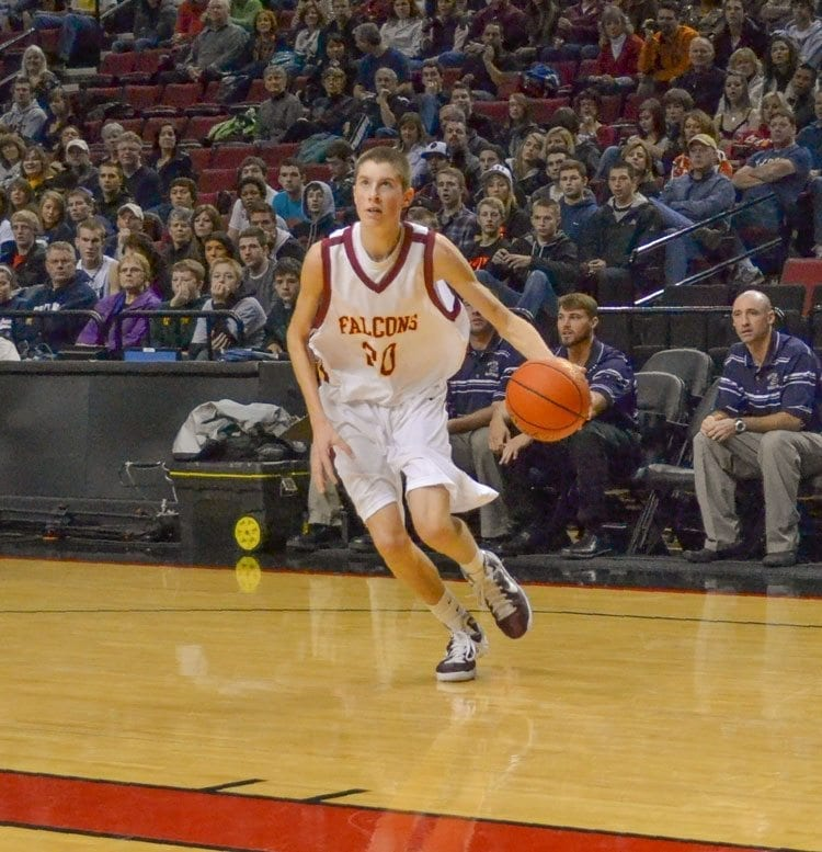 Grant Sitton has alway been tall but was rail thin when he played for Prairie High School. Now at 6-foot-9, he shined at the University of Victoria in Canada and is planning to play pro ball in Europe. Photo courtesy of Sitton family