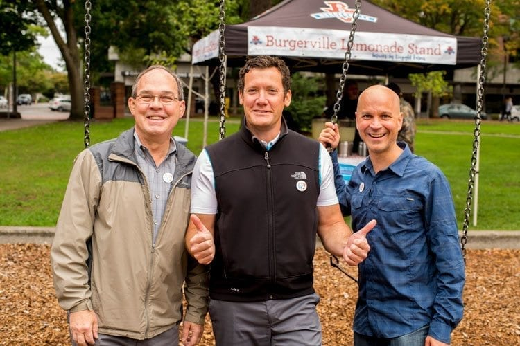 The Give More 24! campaign encourages everyone to get involved and visit associated events on Sep. 21. Last year, representatives from the Vancouver City Council were present, including Council member Jack Burkman, Mayor Timothy Leavitt and Council member Ty Stober. Photo courtesy of the Community Foundation for Southwest Washington