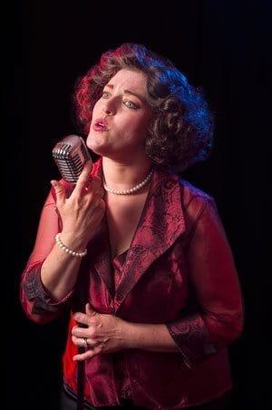 Kristen Johnson stars as Patsy Cline in the Love Street Playhouse presentation of Always, Patsy Cline performed at the Lewis River Golf Course October 4, 5, 6, 18, 19 & 20. Photo courtesy of Mike Patnode
