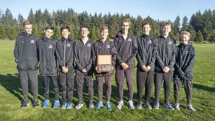 The Camas boys cross country team had four runners in the top 12 last week to win the Class 4A bi-district team title. The Papermakers head to state this week. Photo courtesy of Camas High School
