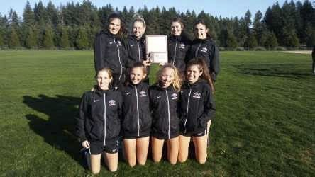 The Camas girls cross country team easily won last week's Class 4A bi-district championship with three runners in the top five. They head to the state championships this week. Photo courtesy of Camas High School