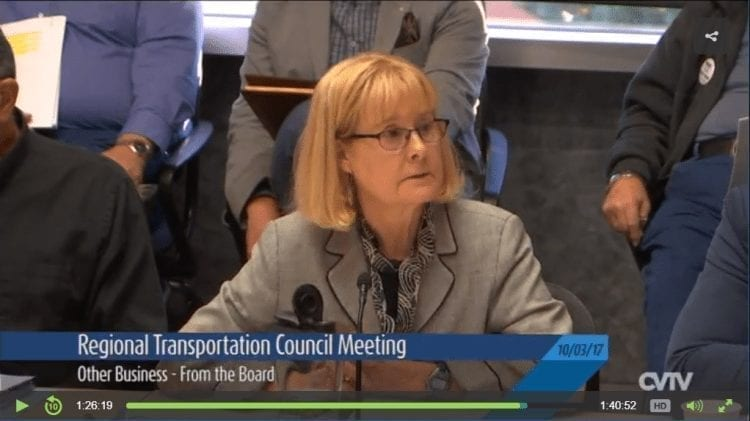 Regional Transportation Council (10-03-17). Click to view clip.