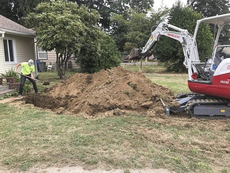 The Direct Plumbing Solutions team offers various services. Here, they prepare a sewer main line for replacement. Photo courtesy of Direct Plumbing Solutions