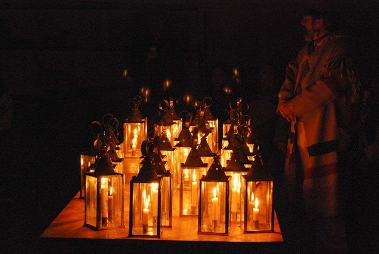 Each visitor on the lantern tour will be able to carry a candle lantern throughout the tour. Photo courtesy of the National Park Service