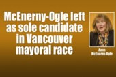 McEnerny-Ogle left as sole candidate in Vancouver mayoral race