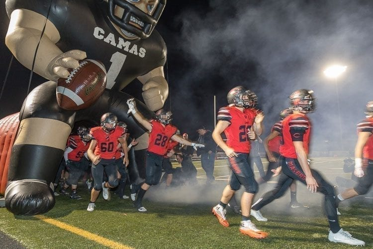 Camas is opening the Class 4A state high school football playoffs with a road game. If a RPI system was used this year, as it will be in the future, the Papermakers could have been at home in the first round. Photo by Mike Schultz