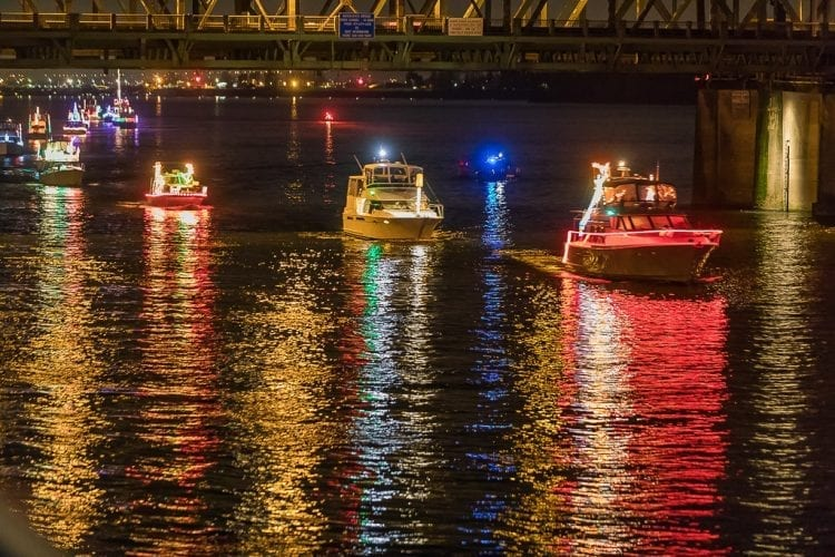 the annual christmas ships parade will begin its series of evening parades on the columbia and