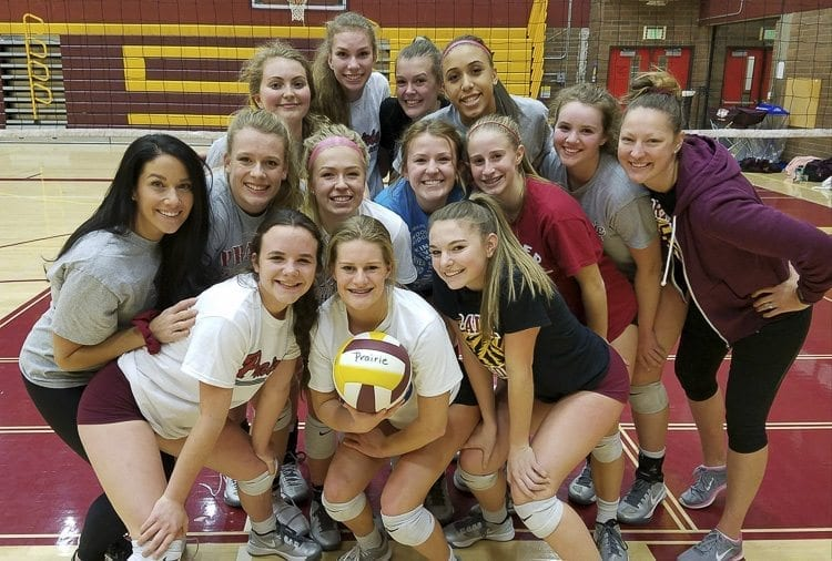 The Prairie Falcons are heading back to the state tournament for the seventh consecutive season. One of the keys to the program's success has been friendship. Not just between varsity players, but junior varsity and freshmen. Photo by Paul Valencia