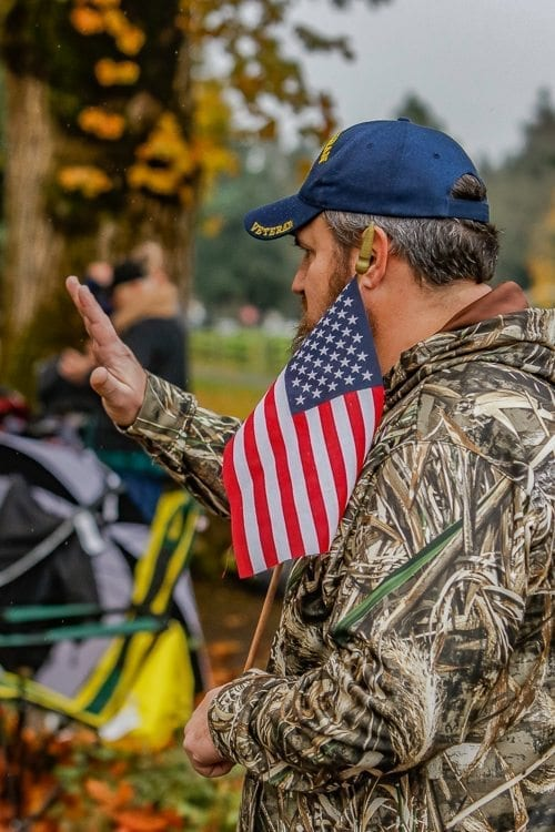 Navy veteran Keith Dugger said he attended Vancouver's Veterans Day Parade Saturday to recognize the service of other veterans. Photo by Mike Schultz