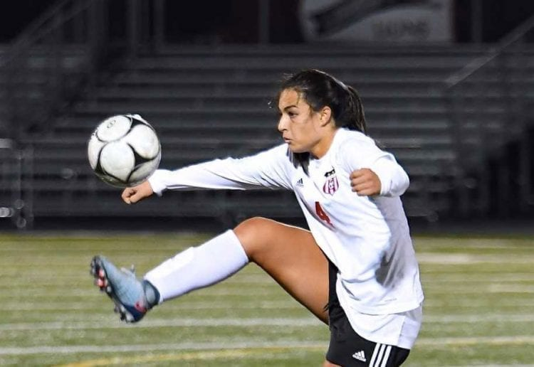 Camas standout Maddie Kemp was named to high school All-America list for the second consecutive year. Photo courtesy of Kris Cavin