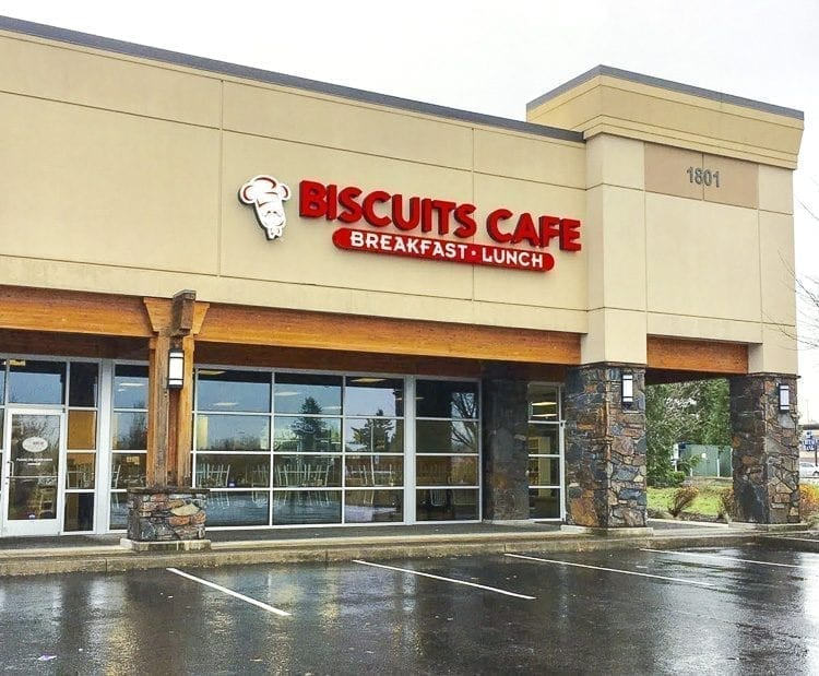 David and Dana Ligatich purchased the Biscuits Café location in Vancouver's Fisher's Landing in February. Photo courtesy of Brooke Strickland