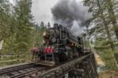 Steam train and Santa Claus bring Christmas delight