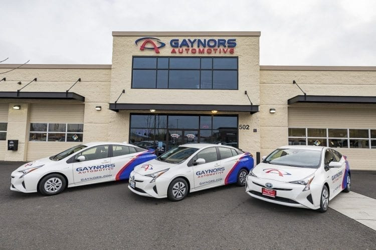 Gaynor's Automotive recently purchased three new Toyota Prius vehicles to replace its shuttle fleet. It's part of a vision that General Manager Tommy Gaynor has for the future of the business. Photo by Mike Schultz