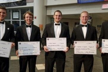 Eight earn scholar-athlete scholarships at football foundation banquet