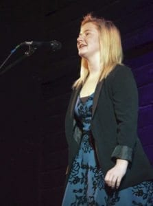 Grace Melbuer, a sophomore at Ridgefield High School, placed first in the school's Poetry Out Loud competition. Photo courtesy of Ridgefield School District