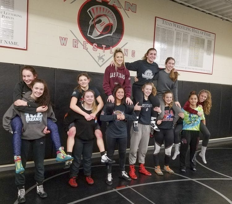 The Union Titans finished second in an 84-team girls wrestling tournament last week. The Titans will compete this week at the Clark County Wrestling Championships at Skyview High School. Photo by Paul Valencia