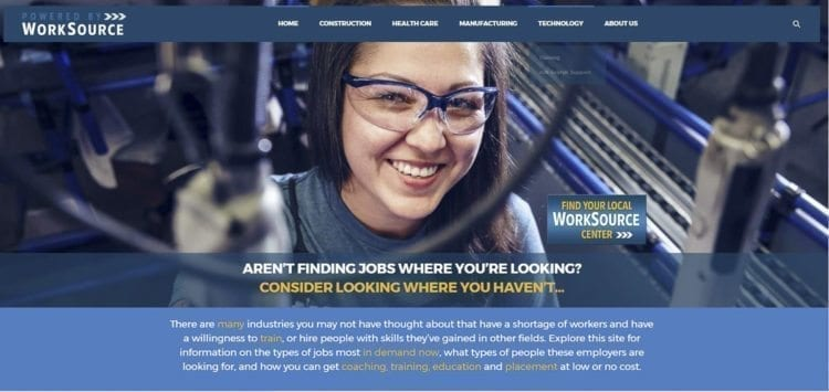 CareersNW, a new website produced by WorkSource and the Columbia Willamette Workforce Collaborative, is designed to provide information and resources for job seekers interested in finding careers locally in the fields of construction, healthcare, manufacturing and technology. Photo courtesy of Workforce Southwest Washington