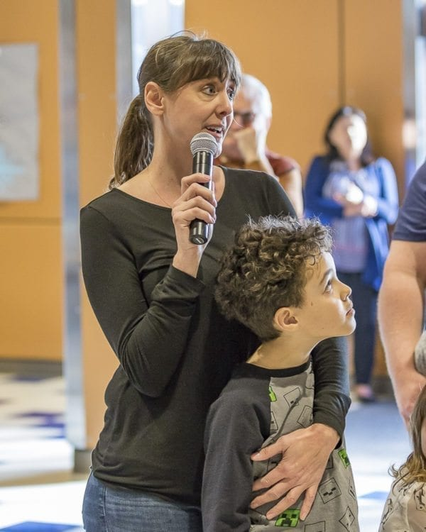 Kimber Webb, a parent of two Union Ridge Elementary students, helped organize Wednesday's Ridgefield School Safety Open House. Photo by Mike Schultz