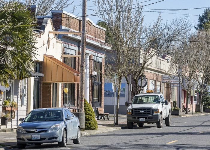 Historic downtown Ridgefield is shown here. Photo by Mike Schultz