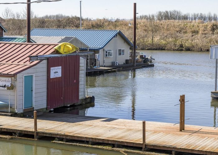 Ridgefield Marina is already active with local boaters and kayakers. Photo by Mike Schultz