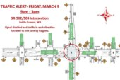 Traffic alert for Fri., March 9 in Battle Ground