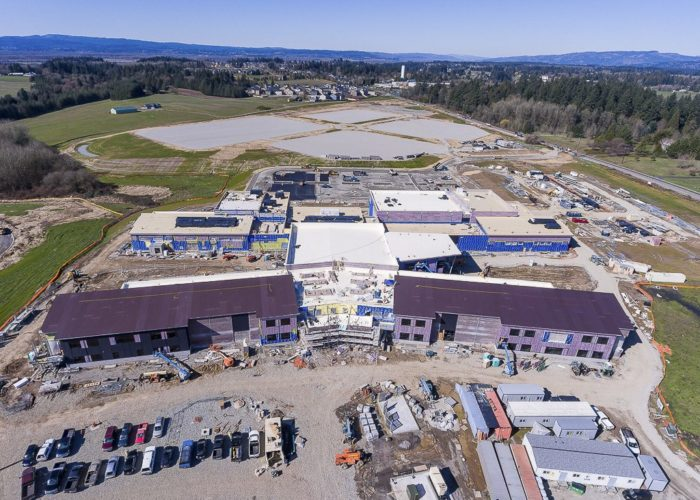 New Grades 5-8 School Complex in Ridgefield, Future home of Sunset Ridge and View Ridge middle schools. Photos by Mike Schultz