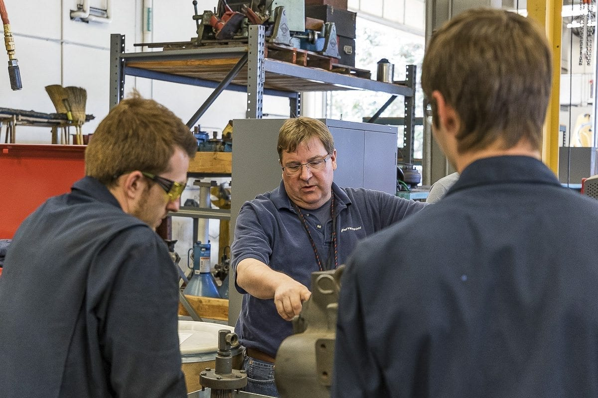 Diesel Repair instructor Chris Boucher teaches the next generation at Clark College. Photo by Mike Schultz