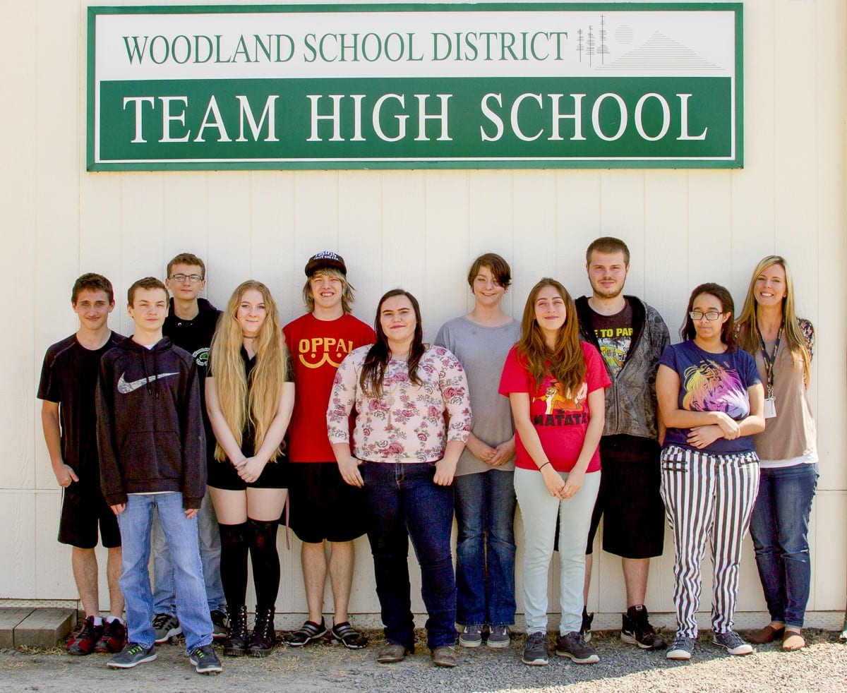 Graduation is the top priority for students with TEAM staff preparing. Photo courtesy of Woodland Public Schools