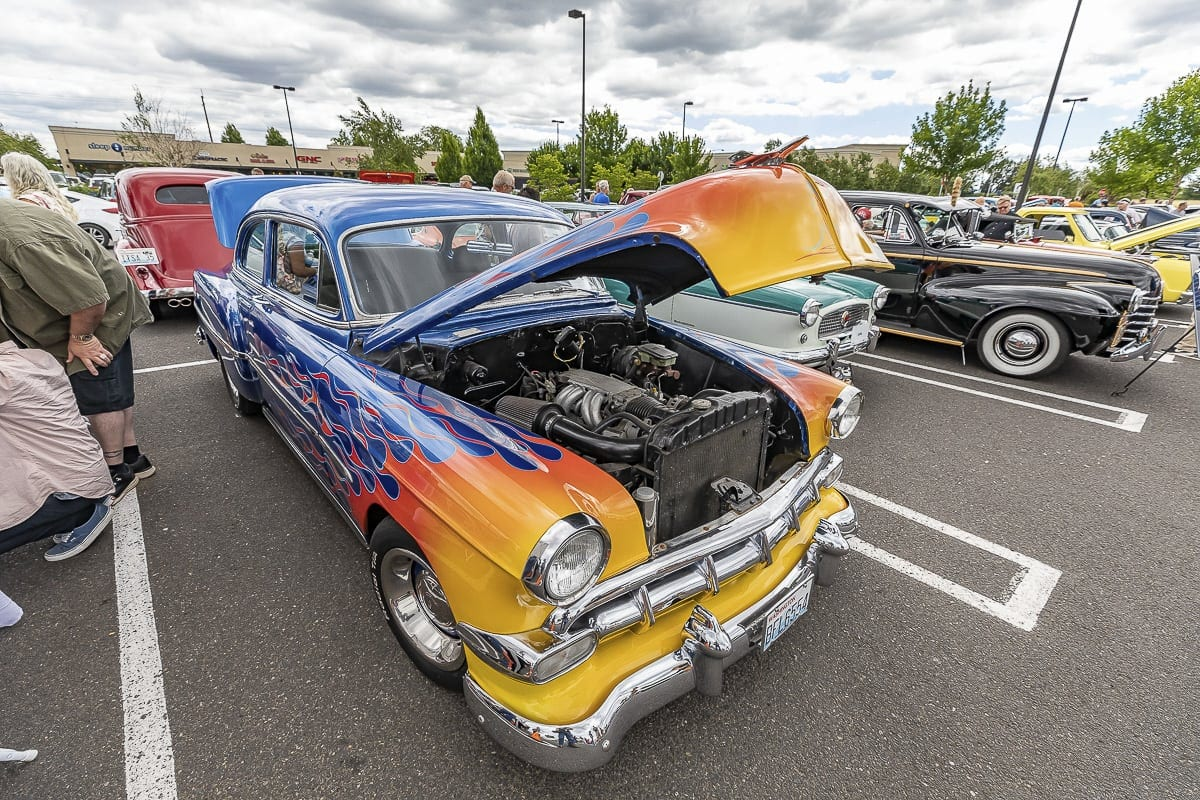 Old cars were on display at the Car Show part of Heroes Night at the east Vancouver Costco on Saturday. Photos by Mike Schultz