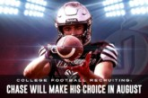 College Football Recruiting: Chase will make his choice in August