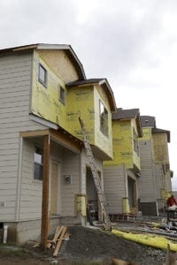 New homes under construction in Clark County. Photo by Mike Schultz