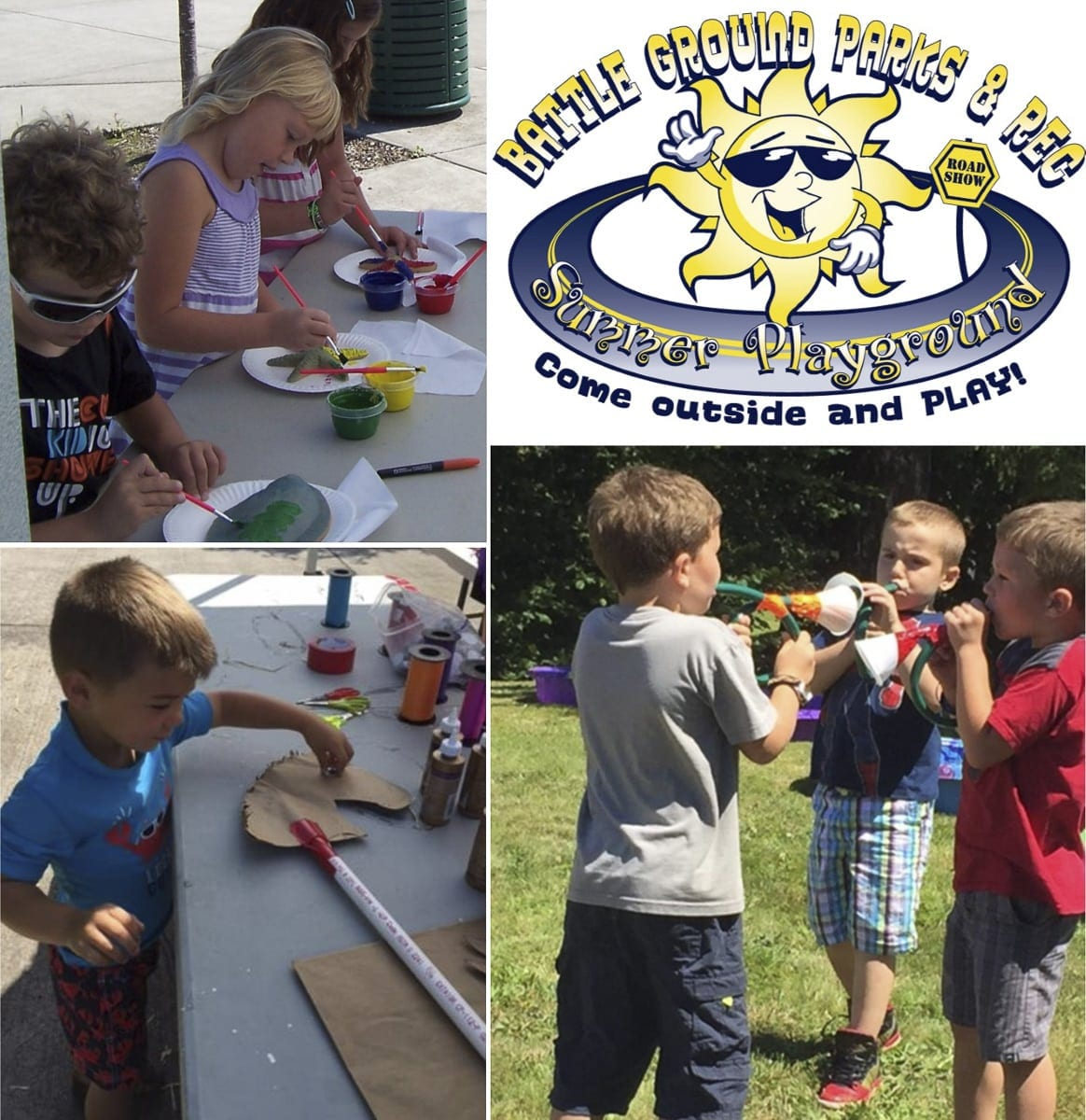 Battle Ground's free Summer Playground Program is designed for children aged 4-10, brings fun recreational activities to four Battle Ground parks each Wednesday and Thursday of the 9-week summer break. Photo courtesy of city of Battle Ground