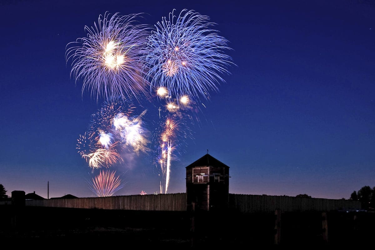 The fireworks show at Fort Vancouver will feature 20 percent more fireworks this year and will operate on a technologically advanced system that synchronises the fireworks and special effects to the rhythm and dynamic of a custom music playlist. Photo courtesy of The Historic Trust
