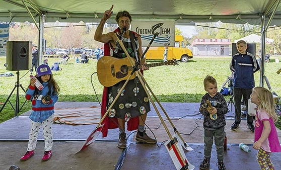 The planet's favorite Superhero -- Recycleman -- will perform at this year's Recycled Arts Festival on Sun., June 24, 9:30-10 a.m. For a list of all the entertainers at this year's event, go to https://recycledartsfestival.com/entertainment/main-stage . Photo courtesy of Clark County WA Communications