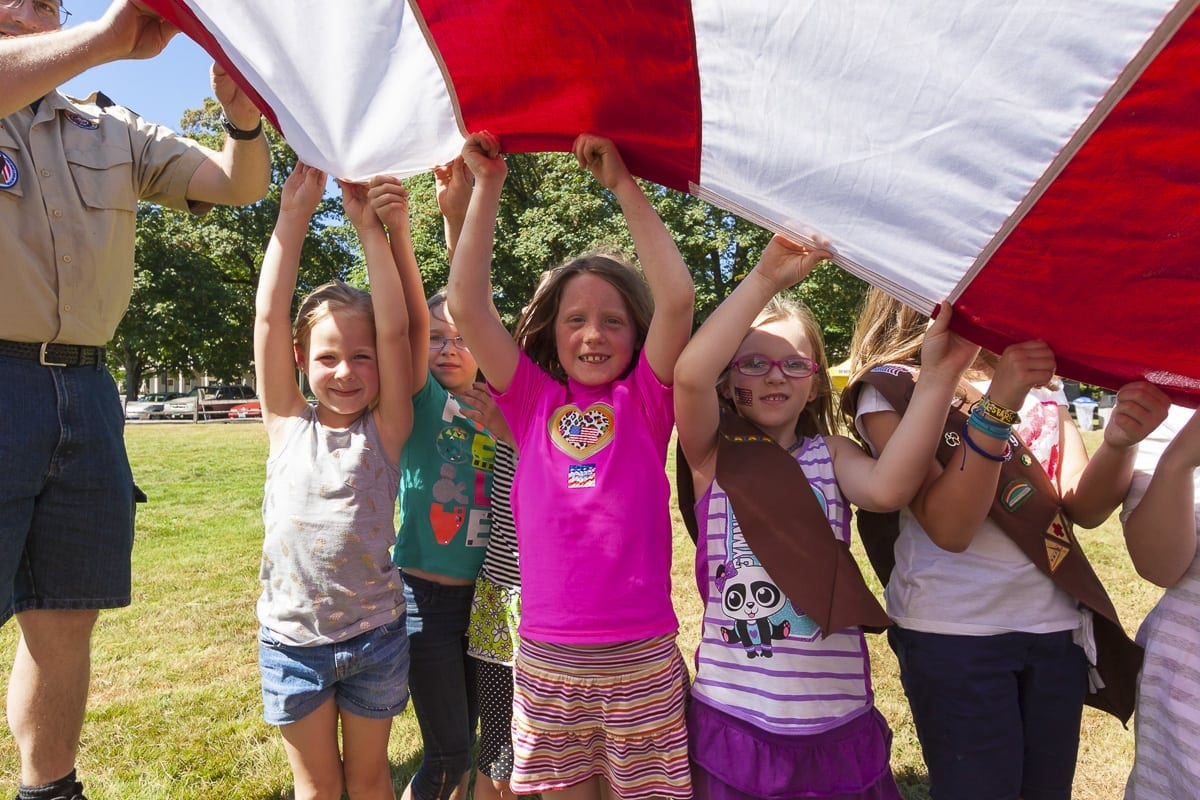 On Thu., June 14, area residents can celebrate Flag Day with the community at the 24th annual Flag Day at Fort Vancouver, a free family event presented by The Historic Trust and Davidson & Associates Insurance. Photo courtesy of The Historic Trust