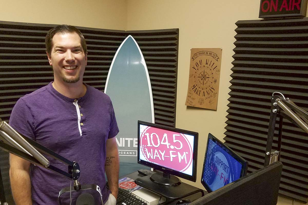 Paul Van Sickle, the operations director for 104.5 WAY-FM, said the goal of the station is to keep shining the light on the hope of Jesus. The station, carried throughout the Vancouver-Portland metro area, is based in Vancouver. Photo by Paul Valencia